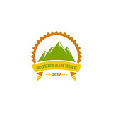 Logo, template, symbol mountain bike.