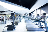 Fototapety equipment in modern gym