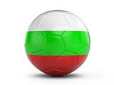 Soccer ball Bulgaria flag