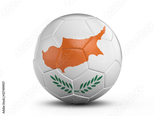 In de dag Cyprus Soccer ball Cyprus flag