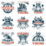 Colored Viking Emblem Set
