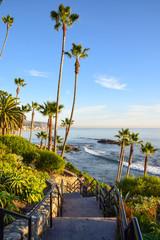 View from Heisler Park, Laguna Beach in Orange County, Southern California