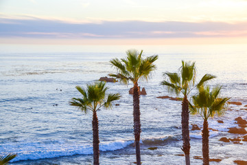 View from Heisler Park, Laguna Beach in Orange County, Southern California
