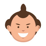 character sumo wrestler japanese vector illustration eps 10