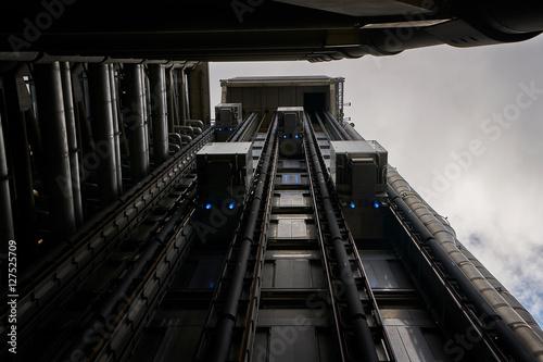 Futuristic Elevators Poster