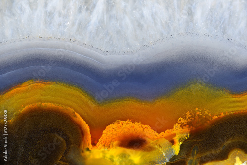 Fototapeta Background with slice of natural stone agate