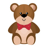 cute bear teddy isolated icon vector illustration design