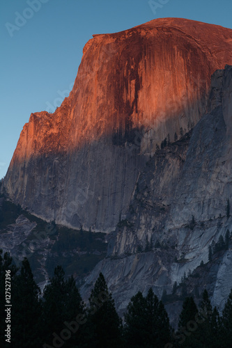 Half Dome alpenglow Poster