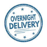 Overnight delivery sign or stamp
