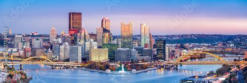 Pittsburgh, Pennsylvania skyline at dusk Poster