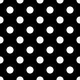 Seamless polka dot black and white