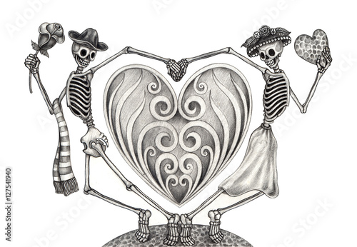 ec6bdb974 Skull art day of the dead.Art design skull wedding love action smiley face  day