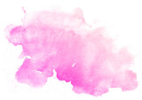 Fototapety Abstract pink watercolor on white background.This is watercolor splash.It is drawn by hand.
