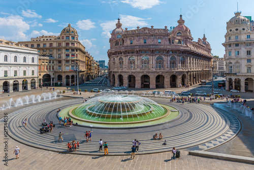 Genoa (Italy) - A big city in northern Italy, capital of the Liguria region, wit Poster