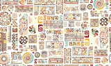 Fototapety Ethnic handmade ornament, seamless pattern for your design