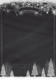 Classic blackboard winter christmas background