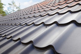 Roofing materials. Metal House roof. Closeup House Construction Building Materials. Roof construction. - 127559750
