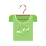 Green T-shirt on Hanger