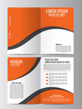 Brochure template. Can be used for magazine cover, business mockup.