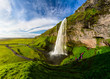 Seljalandsfoss one of the most famous Icelandic waterfall - 127592567