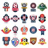 Fototapety Set Soccer Football Badge and logo emblem designs,vector illustration