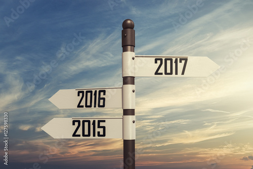 Poster Directional new year Concept
