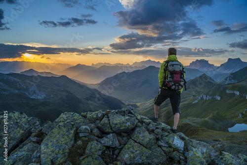 Wandern in den Alpen Poster