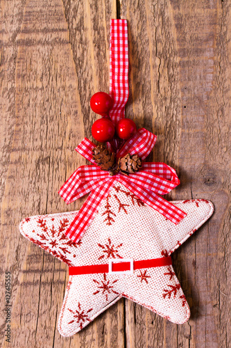 Stella di Natale di cotone Poster