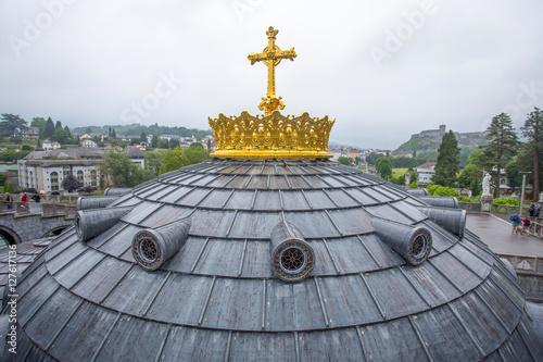 LOURDES, FRANCE - JUNE 10, 2016: Notre Dame du Rosaire de Lourdes (Basilica of o Poster