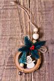 Ghirlanda di Natale in legno