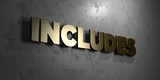Includes - Gold sign mounted on glossy marble wall  - 3D rendered royalty free stock illustration. This image can be used for an online website banner ad or a print postcard.