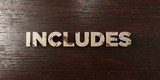 Includes - grungy wooden headline on Maple  - 3D rendered royalty free stock image. This image can be used for an online website banner ad or a print postcard.
