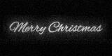 Glitter silver inscription Merry Christmas