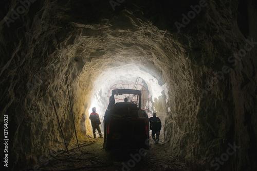 Gold mining underground Poster