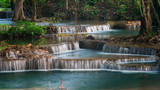 Erawan's Waterfall, Located Kanchanaburi Province, Thailand