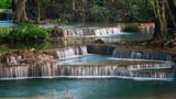 Fototapety Erawan's Waterfall, Located Kanchanaburi Province, Thailand