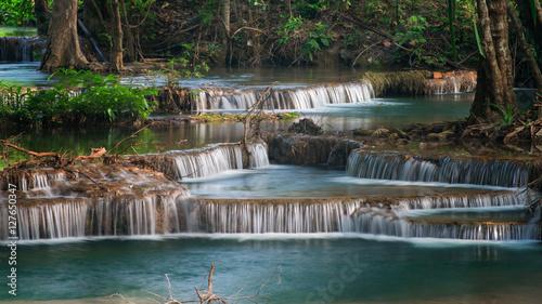 Erawan's Waterfall, Located Kanchanaburi Province, Thailand