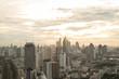 Quadro Bangkok sunrise, City scape view on metropolis of Thailand