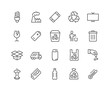 Line Garbage Icons