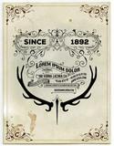 Old card. Vector