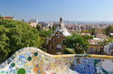 The Park Guell in Barcelona - Spain.