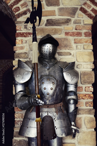 Poster ancient medieval armor  iron made