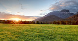 Fototapety Sunrise in mountains landscape, Slovakia, Tatranska Javorina