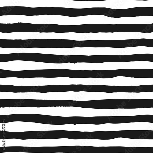 Materiał do szycia Grunge seamless pattern of black and white lines, seamless background grunge monochrome stripes, hand drawn vector pattern for textile, wallpaper, web design, wrapping, fabric, paper