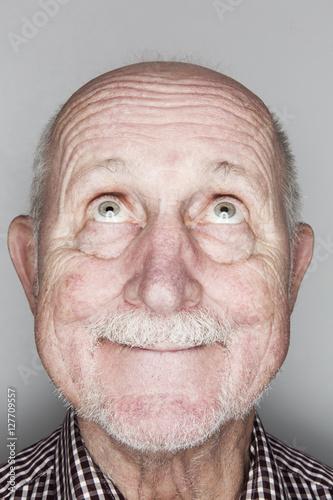 Senior, Kopf, Portrait Poster