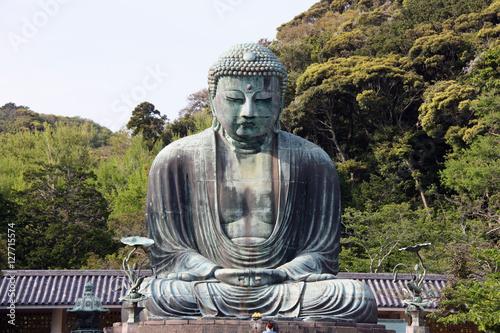 Sliko Statue du Grand Bouddha à Kamakura, Japon