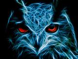 Naklejka Abstract image owl dark color wallpaper background flame illustration stock