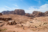 The Monastery Ad-Deir, ancient Nabataean city Petra, Jordan. Ancient temple in Petra / Lost city