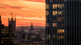 London skyline sunset including the Houses of Parliament