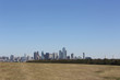 Panoramic view of Dallas Texas skyline, uptown to Oak Cliff, view from Grand Prairie.